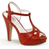 BETTIE-23 Red Faux Leather